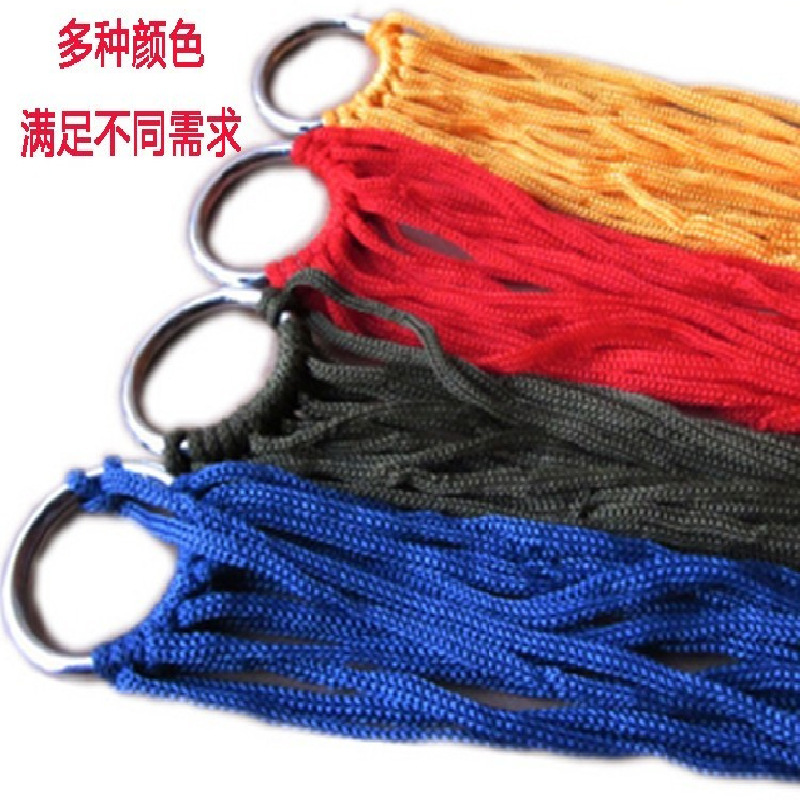 9 shares army green colored nylon hammock manufacturers, wholesale outdoor recreational camping hammock tying send 4 m(China (Mainland))
