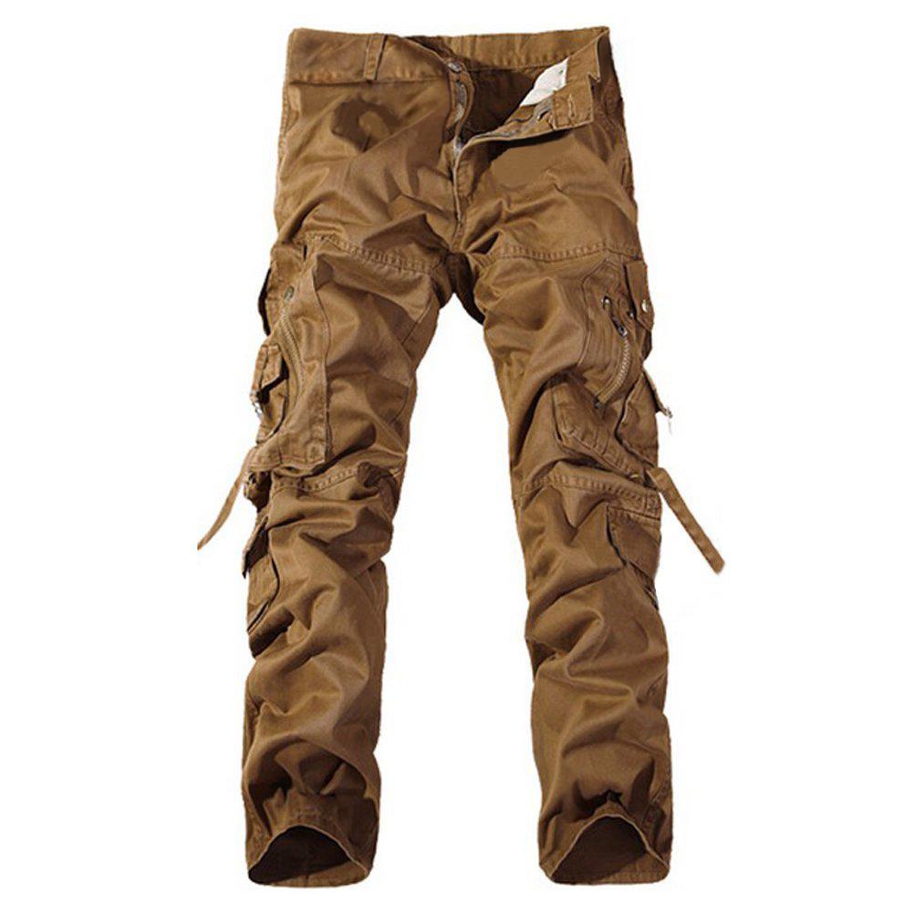 dark khaki cargo pants - Pi Pants