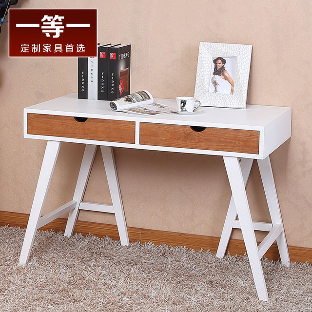 simple moderne et minimaliste table de bureau et bureau blanc bureau table d 39 ordinateur portable. Black Bedroom Furniture Sets. Home Design Ideas