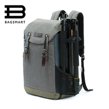 BAGSMART Men Multifunctional Camera Backpack DSLR Bag for 15.6 Laptops Waterproof Rain Cover for Canon Nikon Camera Accessories(China (Mainland))