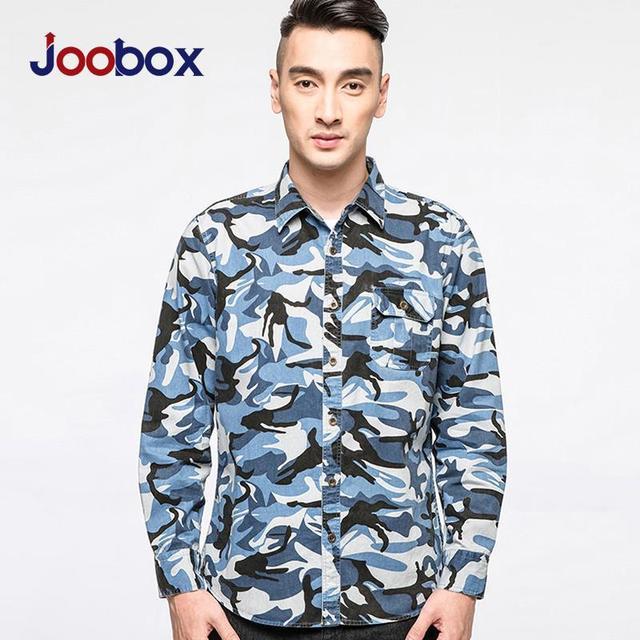 2016 мужские камуфляж с рукавами свободного покроя мужская мода мужская рубашка синий камуфляж рубашки мужчины рубашка бесплатная доставка L5C0201