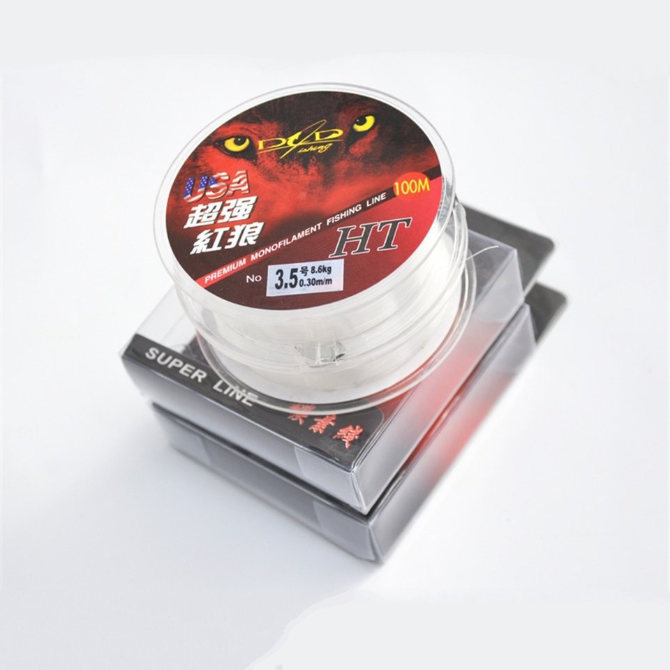 Best Quality 100M Monofilament Nylon Fishing Line red Brand 30 Fishing Material nylon From Japan Jig Carp Fish DaiWa Line Wire(China (Mainland))