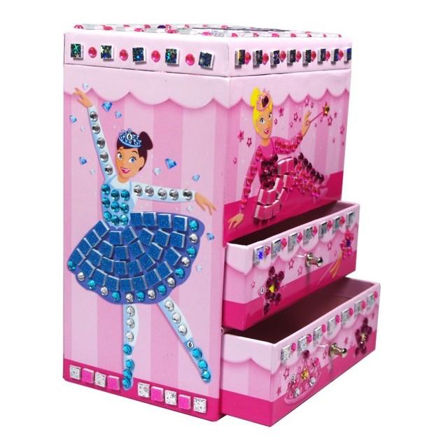 Promotion Originality EVA Sticker Diy educational toys Girl birthday gift little princess jewelry box makeup mirror