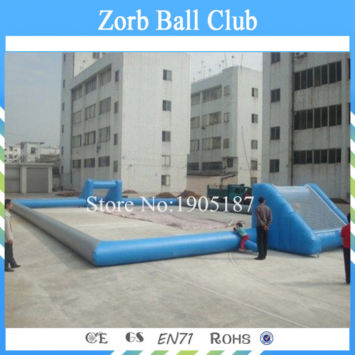 Free Shipping 0.55mm PVC Inflatable Soccer Field Inflatable Football Field For Sale(China (Mainland))