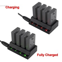Portable USB 4 Port 3.7V Battery Adapter Charger for Parrot Mini Drones Charger Quadcopter Rolling Spider SV026803#