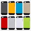 Hybrid PC Silicone Slim Shockproof Armor Armour Color Case Cover for Apple Iphone 5 5G 5S