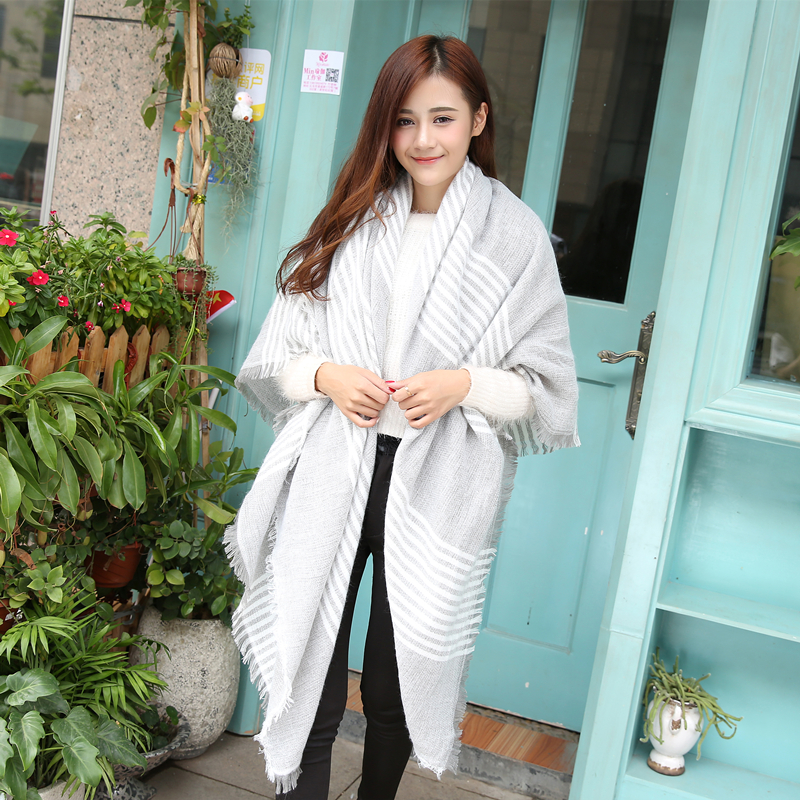 2015 new za winter scarf desiguair scarf plaid new worsted unisex acrylic basic wrap shawls womens female knitted fall Одежда и ак�е��уары<br><br><br>Aliexpress