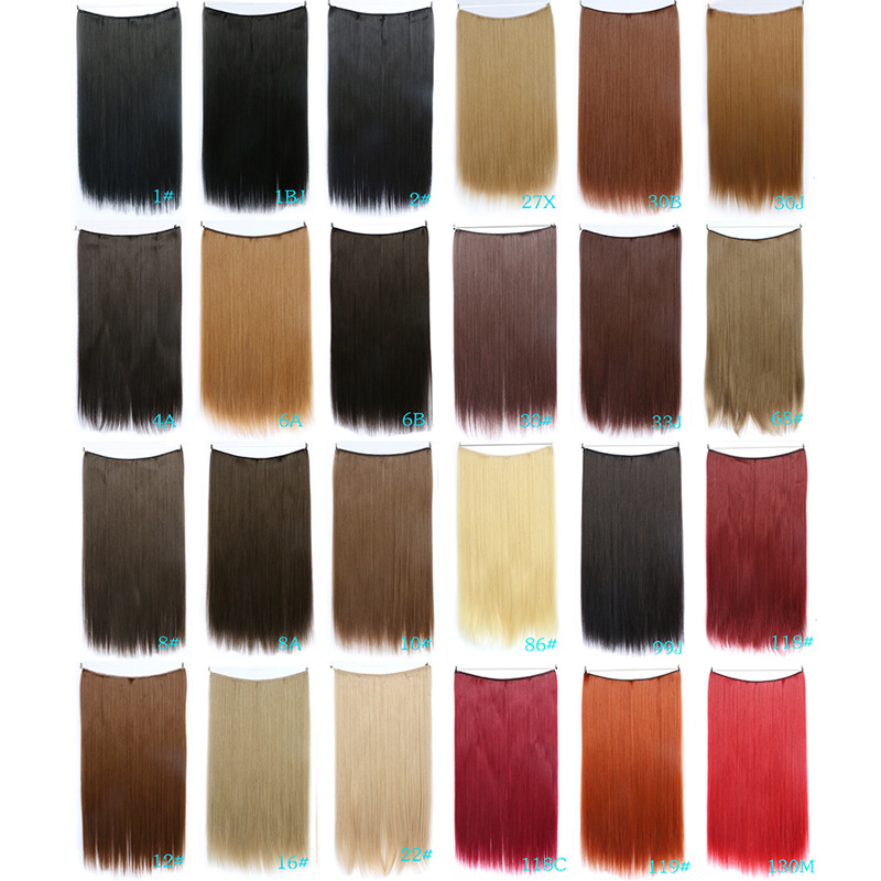 New 32 colors options Hair Flip In Hair Extension 22Long Length Fish Line Hair Extensions Straight Flip In Hair Extension<br><br>Aliexpress