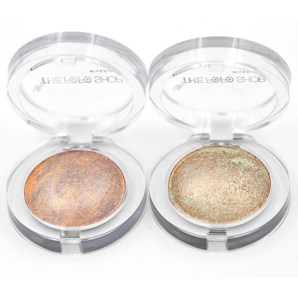 Baked Eye Shadow Eyeshadow Decay Eye Primer 2pcs Wet/Dry Eye shadow powder Makeup 5g(China (Mainland))