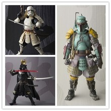 Star Wars Action Figures Boba Fett Stormtrooper Darth Vader Toy 17CM Movie Realization Star Wars Samurai Taisho Robin Model 10A