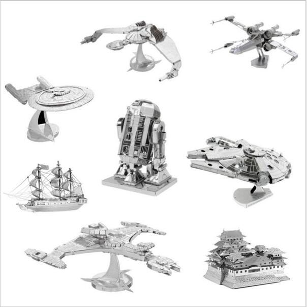 Hot Star Wars 3D Jigsaw Puzzles for Kids Star Wars 3D Nano Metal DIY scale Model Building Architecture educational toy(China (Mainland))