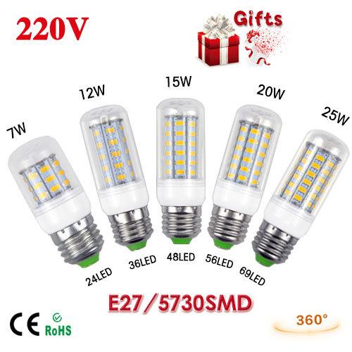 Светодиодная лампа BL 220V e27 3W 5W 7W 15W 20W 25 SMD5730 12W 1
