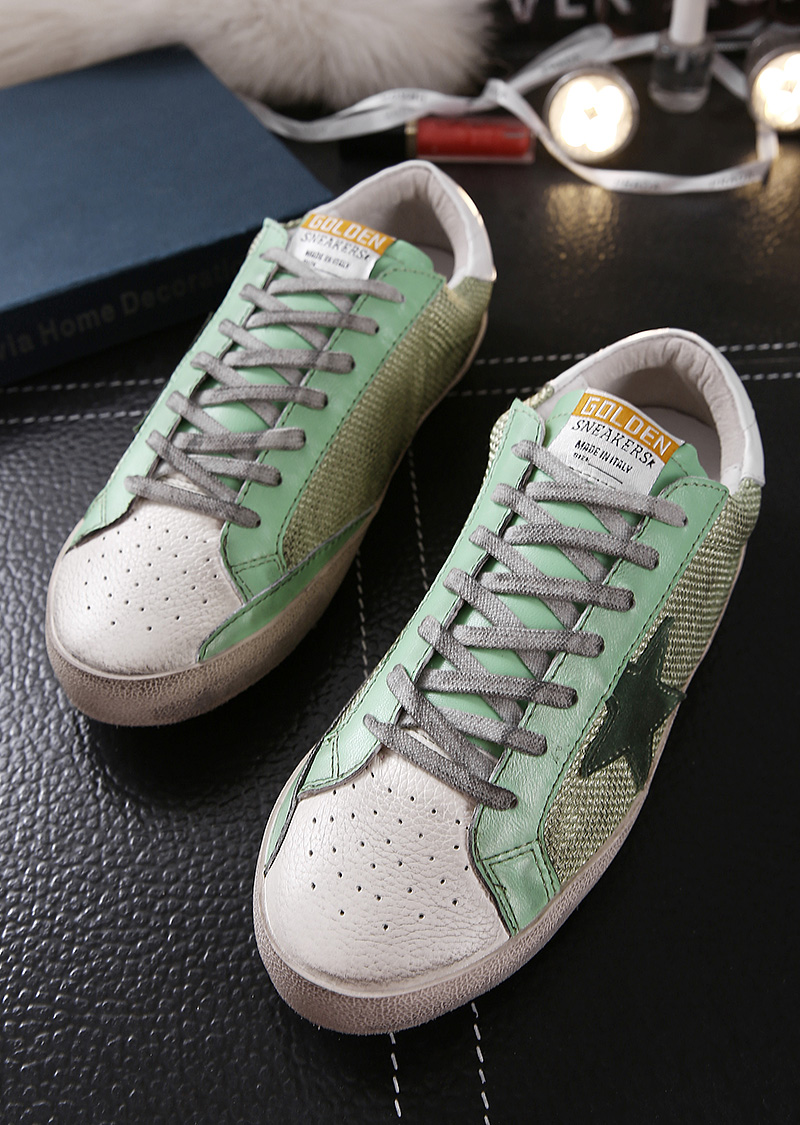 Male fashion leather shoes run green movement Golden Goose/GGDB flat with low lacing shoes<br><br>Aliexpress