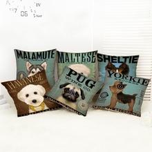 Cute pet dog English alphabet Printing pillowcases for Kids