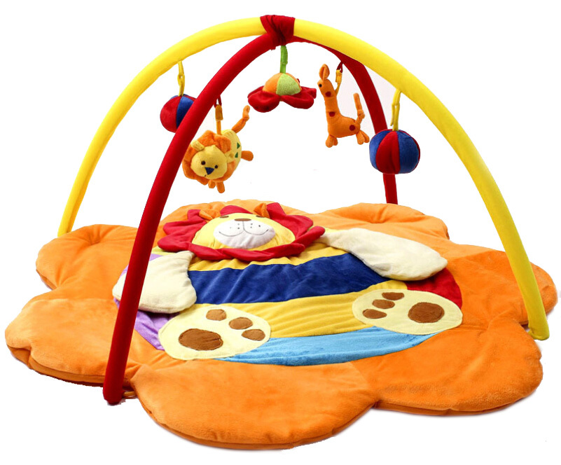 LEOBEI educational fitness crawling play mat cartoon lion thickening music gym mats Developing rug for children(China (Mainland))
