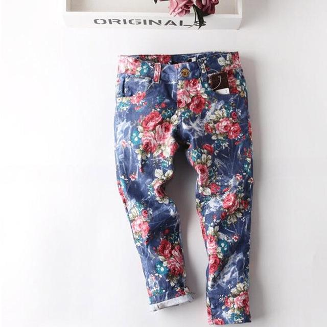 Бесплатная доставка 2016 детские джинсы мода летние тонкие раздел девушки джинсы подходят для 2 - 6 лет свободного покроя детей брюки