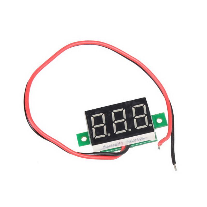 Mini DC 2.5-30V 1pc LCD digital voltmeter ammeter voltimetro Red LED Amp amperimetro Volt Meter Gauge voltage meter DC Wholesale(China (Mainland))