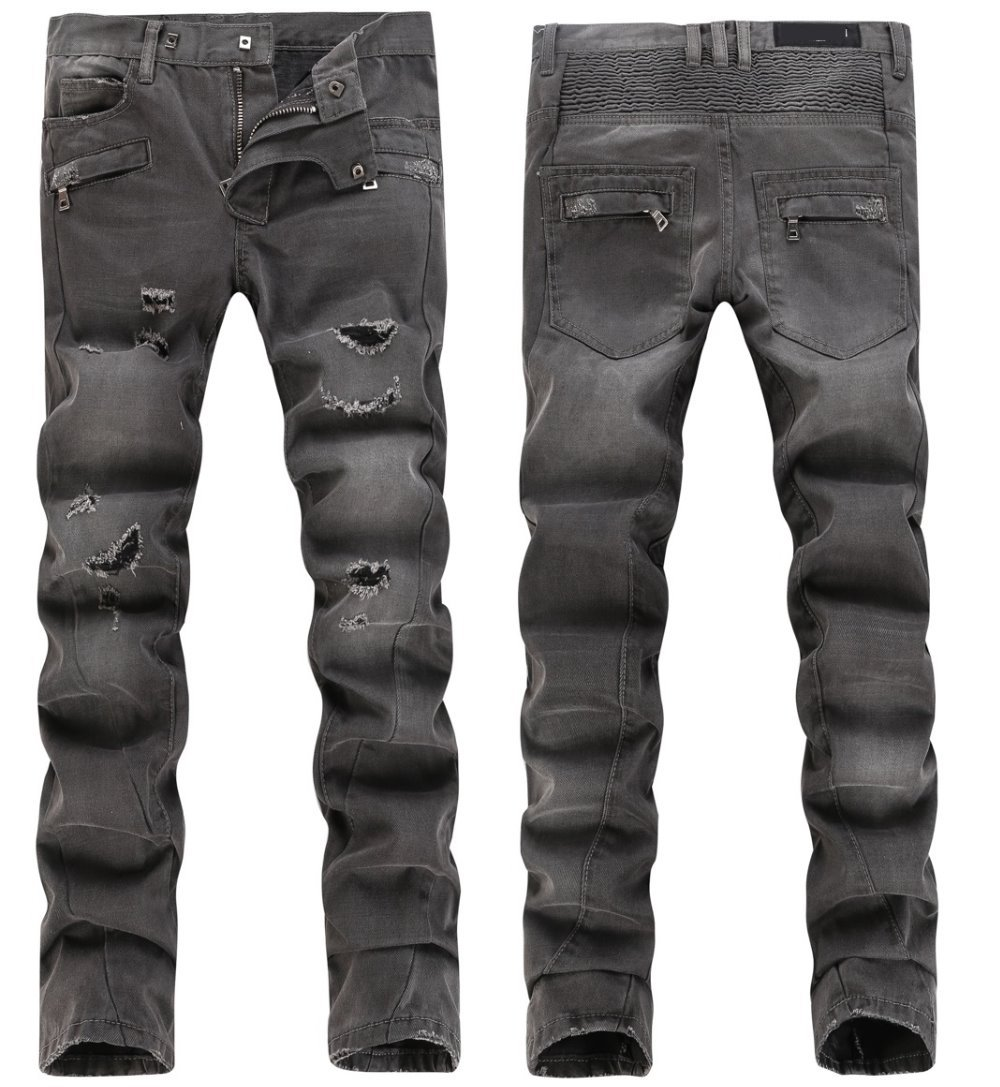 NWT BP Men's Fashion Runway Distressed Biker Slim Jeans Size28-38 (#910)(China (Mainland))
