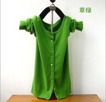 Autumn And Winter Female New Cashmere Cardigan V-Neck Knit Shirt Slim Korean Version Of The Big Yards Short Sweater Women Dress(China (Mainland))