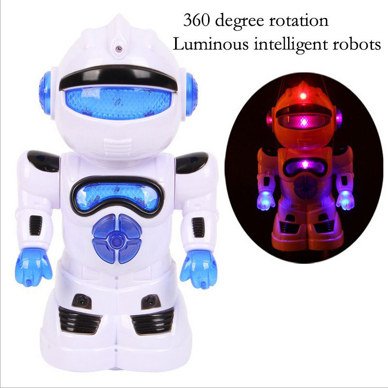 New 360 degree rotating luminous electric intelligent robots robot puzzle()