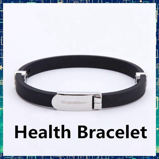 Noproblem B90023 negative ion energy bio health benifits wristband scalar energy far infrared antifatigue silicone bracelet(China (Mainland))