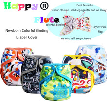 Happy Flute Minion Tiny Newborn Print PUL Design Baby Cloth Diaper Cover,10 pcs newborn  inserts Free Shipping(China (Mainland))