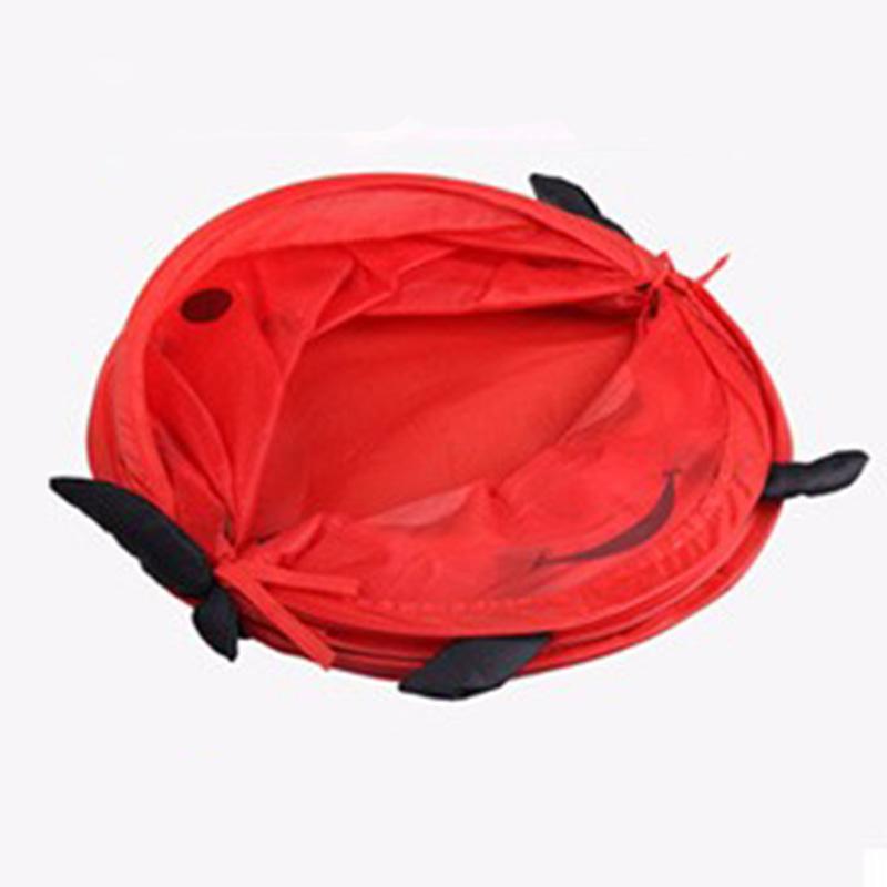 2016 New Red Worm Storage Product Animal Storage Bucket Folding Cylinder Laundry Basket Toy Box Organizer Storage Bag(China (Mainland))