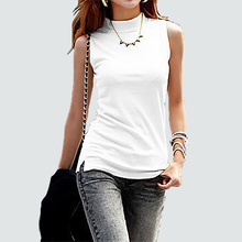 2016 New women summer autumn sleeveless solid color Tops & Tees cotton Tanks tops women Blouses Shirts lady Vest 10 colors(China (Mainland))