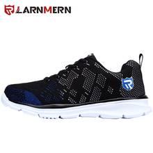 LARNMERN Leves Homens Respirável Sapatos de Segurança Sapatos de Trabalho Biqueira de Aço Para Homens Anti-esmagamento Construção Sapatilha Com Reflexivo(China)