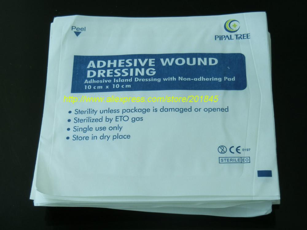 Wholesale 100 Pcs Non-woven Gauze Bandage Cloth Medical Sterilization Gauze Auxiliary Medical Hemostatic Patch Adhesive Wound(China (Mainland))