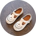 European style children hollow shoes kids soft leather shoes toddler baby girls single flat dance shoes
