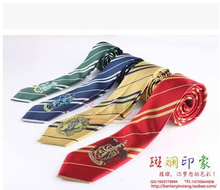 New Fashion 4 Color College Tie Harry Potter Gryffindor Series Tie With Badge Personality Cosplay  Free Shipping(China (Mainland))
