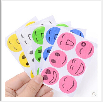 Smiling Face Best Mosquito Natural Repellent Patch Insect bug repellent sticker Camping(China (Mainland))