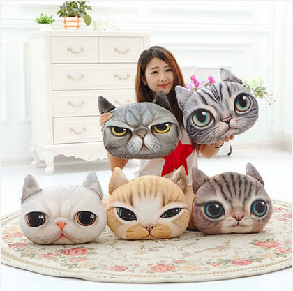 2015 New Nordic Chair Pillow(40cm*38cm) Personality Car Cushion case Cover Creative Cat shape Nap pillow Cover Cute seat cushion(China (Mainland))