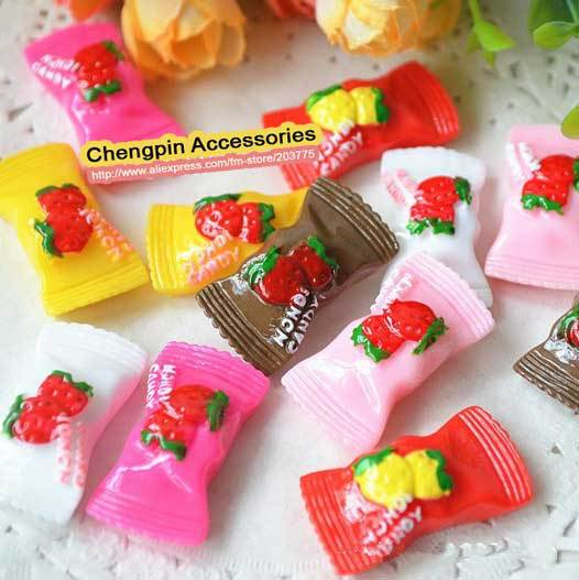 Free Shipping! japan korea resin cabochon kawayii Strawberry Candy phone DIY beauty accesorries decoration 30*16mm (200p/lot)