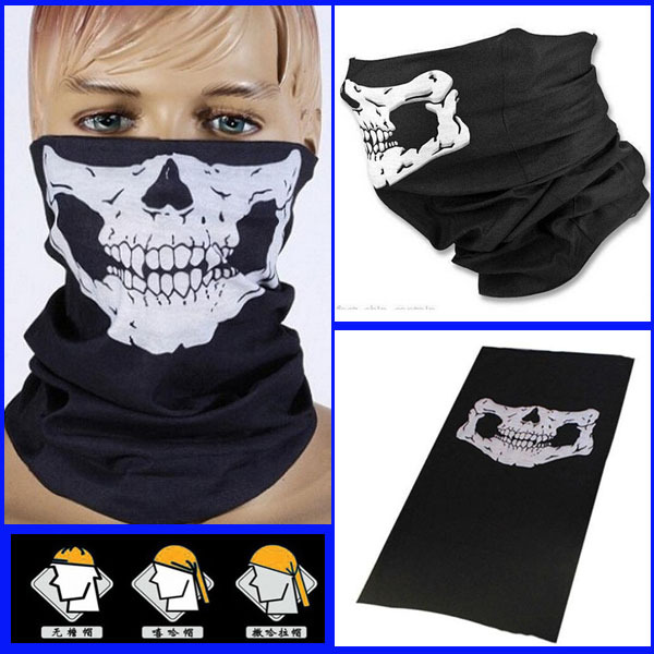 Multi Function Seamless Skull bandana Riders Face Mask warm Neck Tube Scarf Hiphop Hijab Halloween props Magic Sport Scarves(China (Mainland))