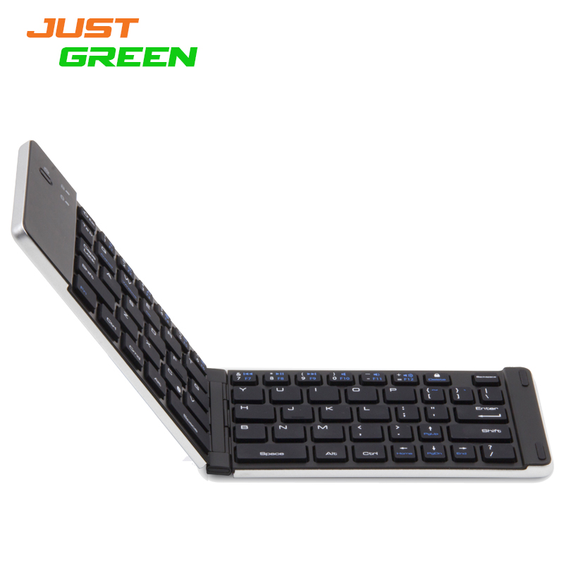 Universel Justgreen F66 Foldable Aluminum Alloy Stent Bluetooth keyboard Support Android Windows ISO(China (Mainland))