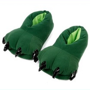 Winter green paw slippers derlook cotton-padded shoes floor package with platform lovers warm shoes(China (Mainland))