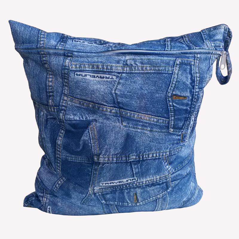 2016 Reusable Waterproof Printed TPU Wet Bag Single Zipper Baby Diaper Organizer Newborn Kinderwagen Tasche Nappy Bags 28*30CM(China (Mainland))