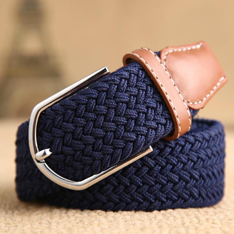 Miss Han Ban stretch woven canvas belt men elastic belt pin buckle belt Universal trouser pockets(China (Mainland))