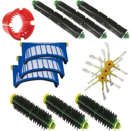 3 Beater Brush 3 Bristle Brush, A Bristle Brush Cleaning Tool 3 Filters 3 Side Brushes for iRobot Roomba 550 Vacuum Cleaner(China (Mainland))