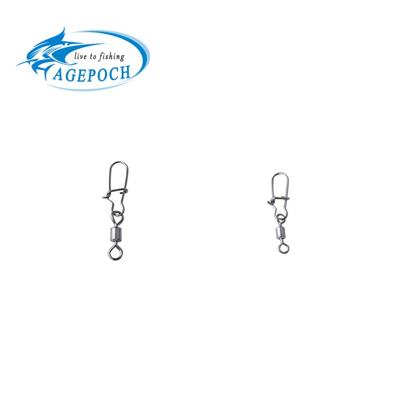 20PCS Fishing Bearing Rolling Swivel Steel Alloy With Snap Fishhook Lure Connector Fish Hook Tackle(China (Mainland))