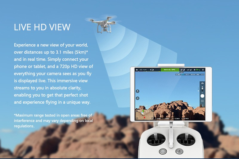 DJI Drone Phantom 3 Advanced RC Quadcopter Helicopter Camera Drones Phantom3 Multicopter 1080P Camera Sliver Aerial Photography