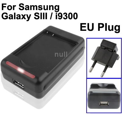 EU Plug Universal USB Output Style Battery Charger for Samsung Galaxy S3/ i9300 , Galaxy S4 / i9500 , Galaxy Grand Duos / i9082