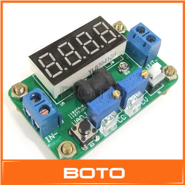 100 PCS/LOT DC LED Green Voltmeter Buck Converters Adjustable 4.5-24V to 1-20V 2A Constant Voltage Power Supply #0900471(China (Mainland))