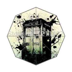 2014 Novelty Item Custom Doctor Who Police Box Galaxy Design 43.4 inch Automatic 3 Fold Umbrellas Good Gift For Birthday Friend(China (Mainland))