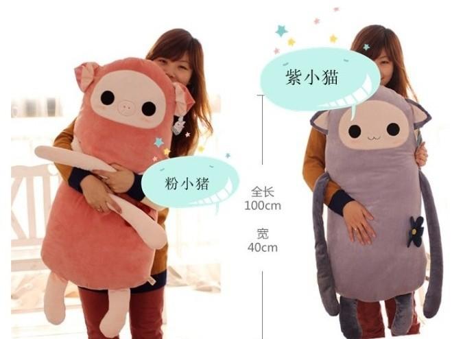 100CM giant stuffed Monkey stuffed animals plush toy The best Valentine's Day gift free shipping(China (Mainland))