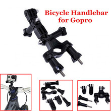 Bike Bicycle Handlebar Seatpost Pole Camera Mount Extra Adjustable Arm Tripods For Gopro Hero 2 3 3+ Xiaomi Yi  Accessories