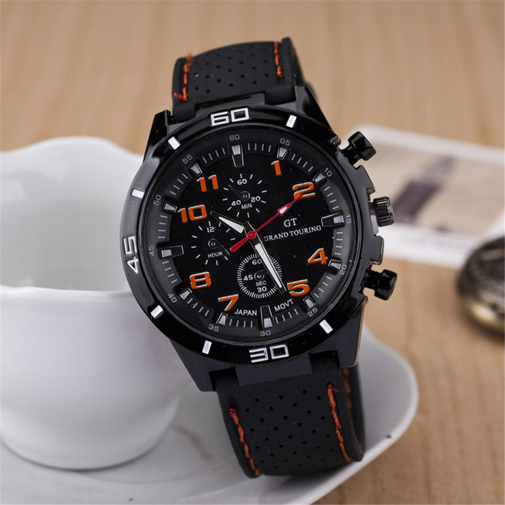 Fashion Sports Watches Large dial Men Watch Quartz Watch 6 colors GT500