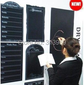 45*200CM Wall Paper Decor wall sticker blackboard sticker Removable 150pcs/lot